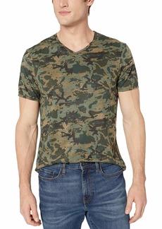 Buffalo Jeans Buffalo David Bitton Men's Short Sleeve v-Neck bio wash Single Jersey