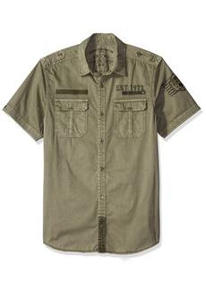Buffalo Jeans Buffalo David Bitton Men's Siche Short Sleeve Fashion Woven Shirt