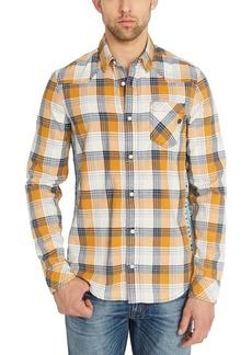 Buffalo Jeans Buffalo David Bitton Men's Sidax Regular-Fit Pieced Plaid Shirt