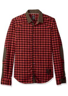 Buffalo Jeans Buffalo David Bitton Men's Sidroq Slim Fit Long Sleeve Washed Fashion Button Down Shirt