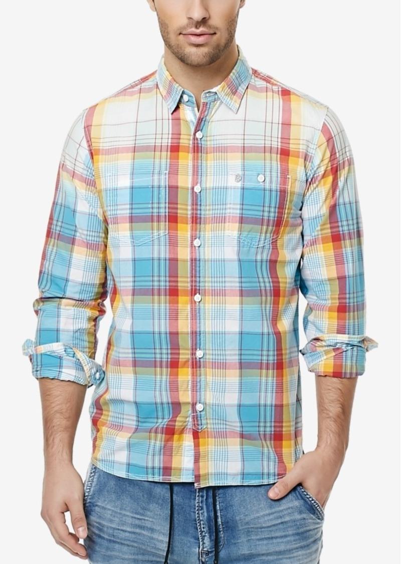 Buffalo Jeans Buffalo David Bitton Men's Sijax Rainbow Plaid Shirt