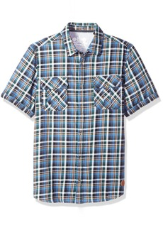 Buffalo Jeans Buffalo David Bitton Men's Sijoulan Stretch Plaid Woven Shirt