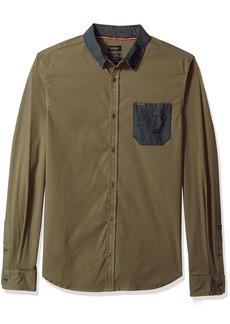 Buffalo Jeans Buffalo David Bitton Men's Silustuz-x Slim Stretch Long Sleeve Button Down Shirt