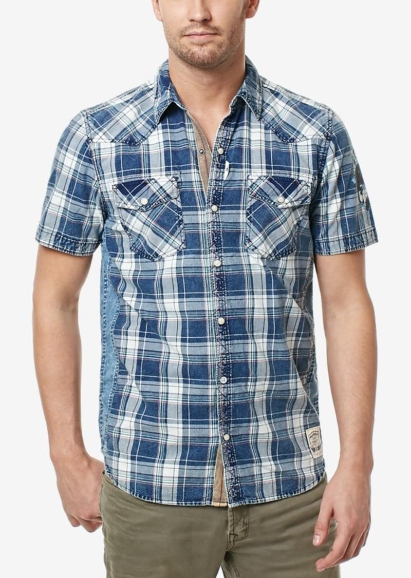0040c6a514 Buffalo David Bitton Men s Simila Plaid Graphic-Print Cotton Shirt. Buffalo  Jeans