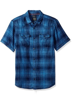 Buffalo Jeans Buffalo David Bitton Men's Simpaqos Short Sleeve Plaid Button Down Shirt