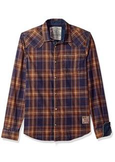 Buffalo Jeans Buffalo David Bitton Men's Sinellaz-x Regular Stretch Washed LS Button Down Shirt