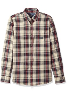 Buffalo Jeans Buffalo David Bitton Men's sinter Long Sleeve Oxford Plaid Button Down Shirt
