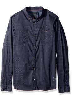 Buffalo Jeans Buffalo David Bitton Men's Sioto-x Long Sleeve Stretch Printed Button Down Shirt