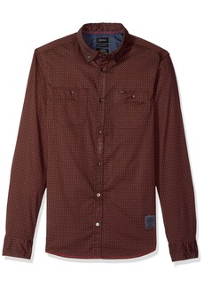 Buffalo Jeans Buffalo David Bitton Men's Sioto-x Long Sleeve Stretch Printed Button Down Shirt
