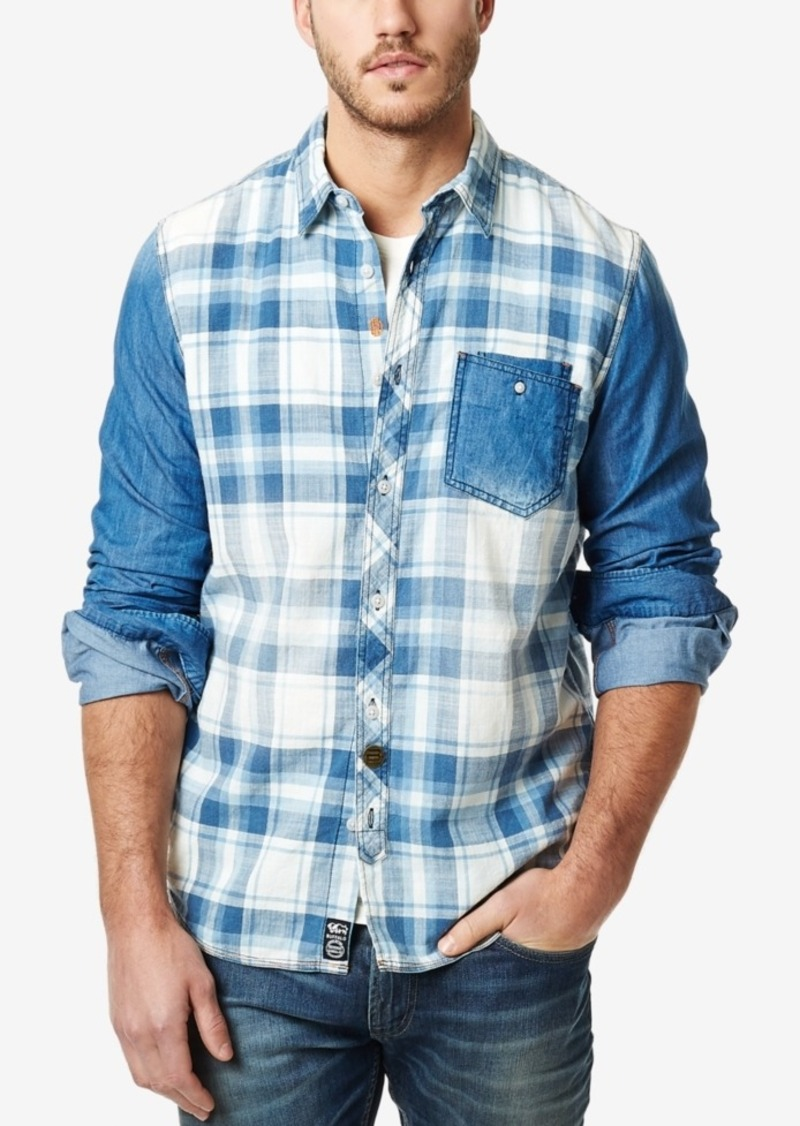 Buffalo Jeans Buffalo David Bitton Men's Sipalto Denim Plaid Long-Sleeve Shirt