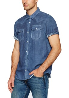 Buffalo Jeans Buffalo David Bitton Men's Siprox Short Sleeve Fashion Button Down Shirt