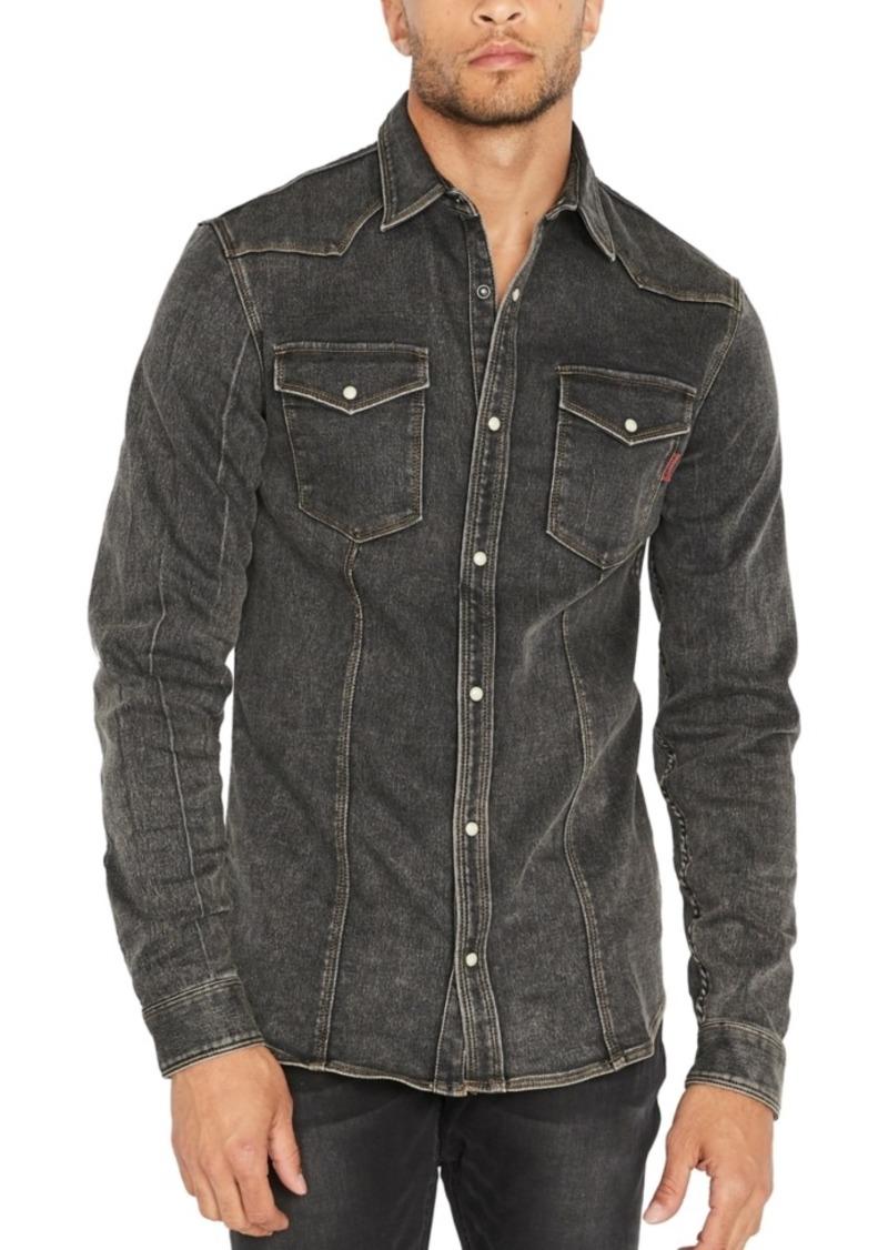 Buffalo Jeans Buffalo David Bitton Men's Sisavage Slim-Fit Denim Shirt