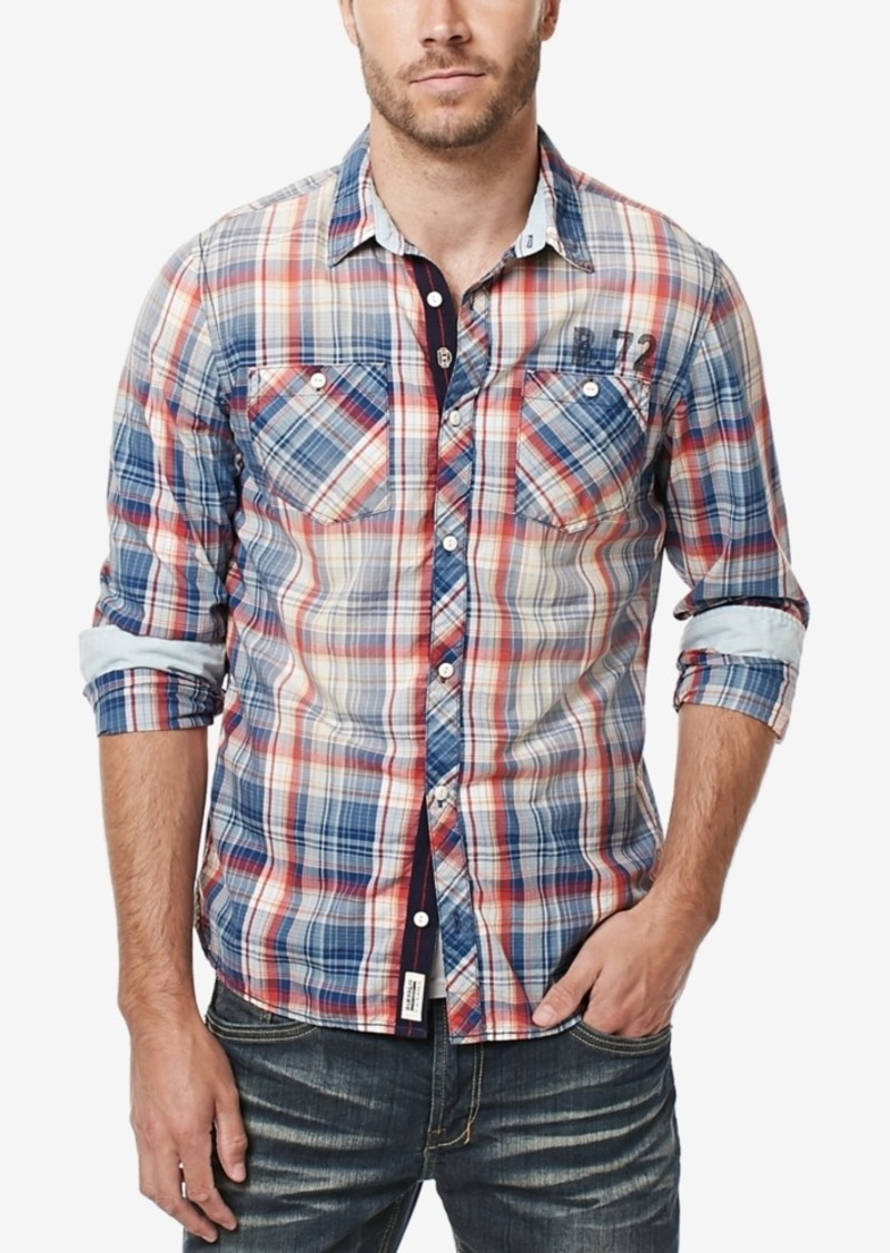 61115106d1 Buffalo Jeans Buffalo David Bitton Men s Siwars Plaid Shirt