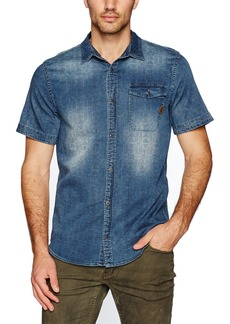 Buffalo Jeans Buffalo David Bitton Men's Siwen Short Sleeve Fashion Button Down Shirt