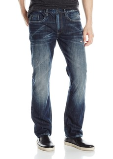 Buffalo Jeans Buffalo David Bitton Men's Six Slim Straight Leg Fashion Jean in A Scratched and Sandblasted Wash 31 x 30