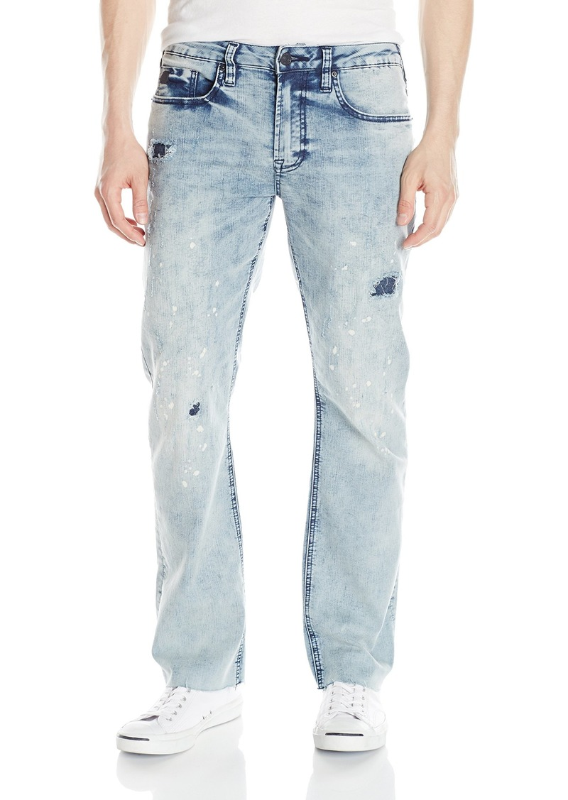 Buffalo Jeans Buffalo David Bitton Men's Six Slim Straight Leg Fashion Jean with Contrasted and Bleached Wash 31 x 32