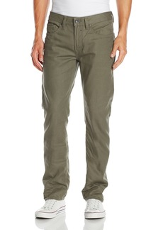 Buffalo Jeans Buffalo David Bitton Men's Six Slim Straight Leg Jean In Rifted and Lightly Crinkled Olive  36x30