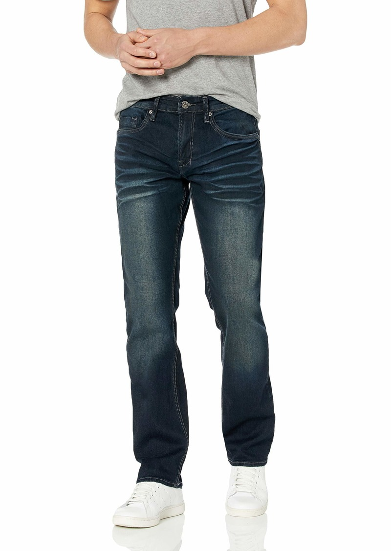Buffalo Jeans Buffalo David Bitton Men's Six-X Slim Straight Leg Jean Dark wash Stretch Denim Sanded 30w x 32L