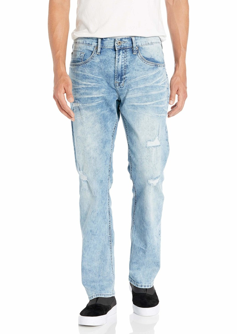 Buffalo Jeans Buffalo David Bitton Men's Six-X Slim Straight Leg Jean Light wash Basic Denim  34w x 30L