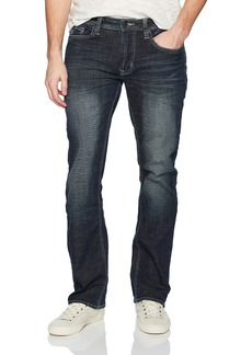 Buffalo Jeans Buffalo David Bitton Men's Six-x Straight Fit Whiskered and Sanded Fashion Denim Pant