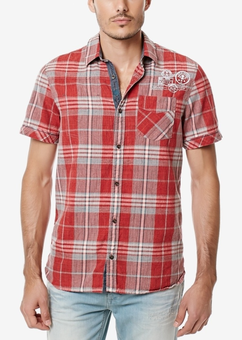 Buffalo Jeans Buffalo David Bitton Men's Siyelp Plaid Short Sleeve Shirt