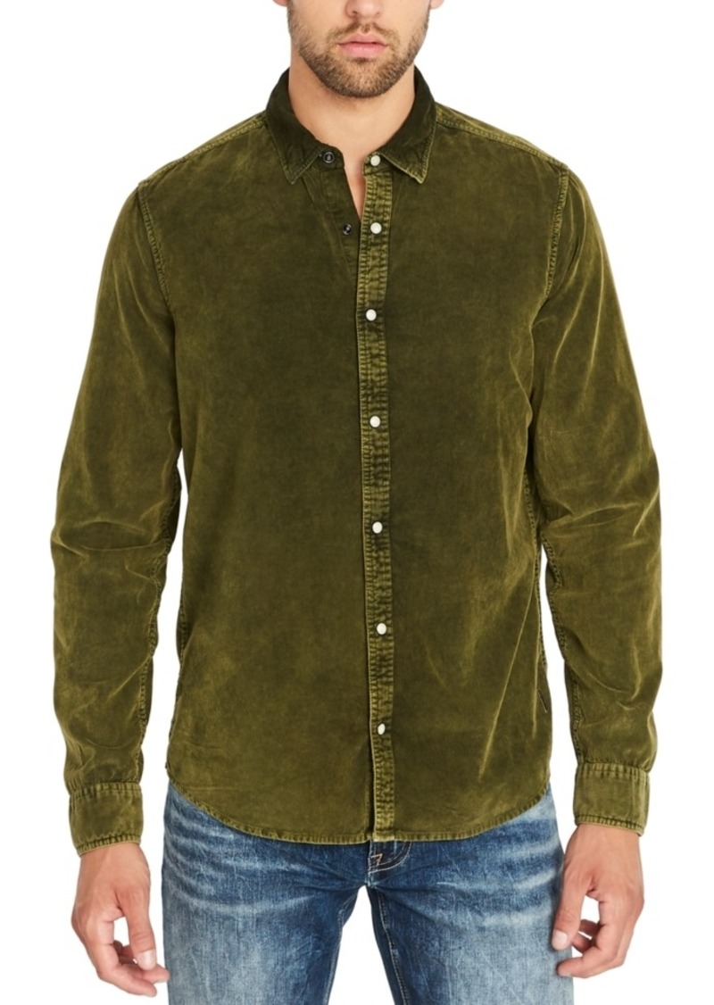 Buffalo Jeans Buffalo David Bitton Men's Snap-Front Corduroy Denim Shirt