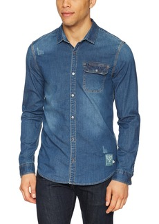 Buffalo Jeans Buffalo David Bitton Men's Somitel Stretch Denim Button Down Shirt