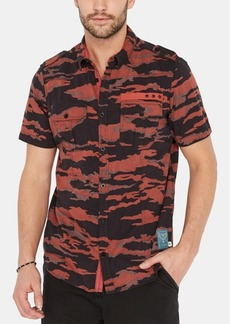 Buffalo Jeans Buffalo David Bitton Men's Soovinc-x Regular-Fit Stretch Camouflage Utility Shirt