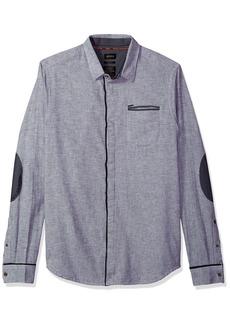 Buffalo Jeans Buffalo David Bitton Men's Sowel Long Sleeve Slim Fit Stretch Button Down Shirt