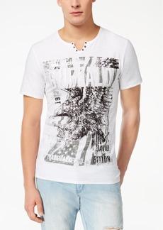 Buffalo Jeans Buffalo David Bitton Men's Split-Neck Graphic-Print T-Shirt