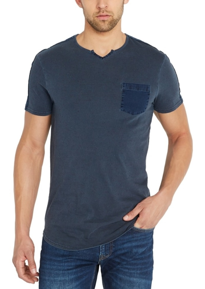 Buffalo Jeans Buffalo David Bitton Men's Split-Neck Pocket T-Shirt