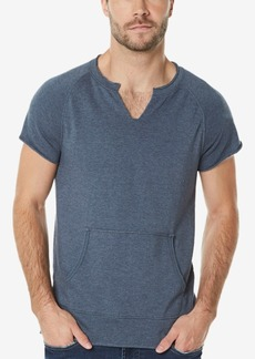Buffalo Jeans Buffalo David Bitton Men's Split-Neck Short-Sleeve Sweatshirt