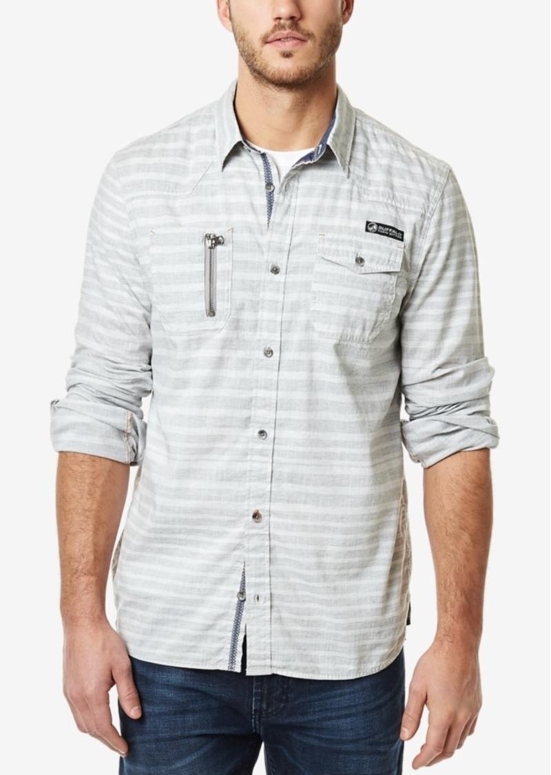 Buffalo Jeans Buffalo David Bitton Men's Striped Long-Sleeve Shirt