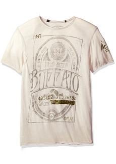 Buffalo Jeans Buffalo David Bitton Men's Titwin Ss Crewneck Burnout Fabric Fashion Graphic T-Shirt