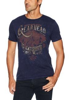 Buffalo Jeans Buffalo David Bitton Men's Tucam Short Sleeve Washed Crewneck Graphic Fashion T-Shirt