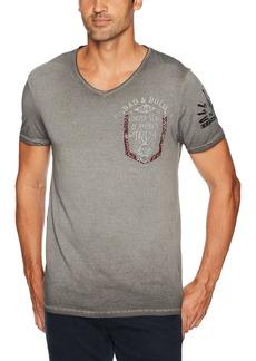 0a8b6966f5 Buffalo Jeans Buffalo David Bitton Men s Tutor Short Sleeve Slub Fabric  Vneck Graphic Fashion T-