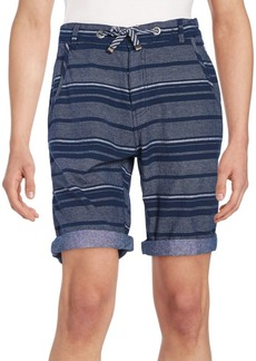 Buffalo Jeans BUFFALO David Bitton Multistriped Cotton Shorts