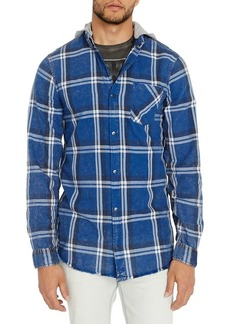 Buffalo Jeans BUFFALO David Bitton Plaid Hooded Shirt