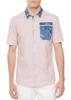 Buffalo Jeans BUFFALO David Bitton Sazelk-X Printed Cotton Button-Down Shirt