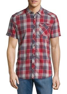 Buffalo Jeans BUFFALO David Bitton Short-Sleeve Cotton Plaid Shirt