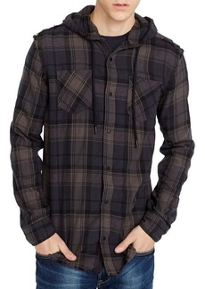Buffalo Jeans BUFFALO David Bitton Sidron Hooded Flannel Shirt