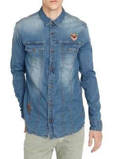 Buffalo Jeans BUFFALO David Bitton Simad-X Chambray Button-Down Shirt