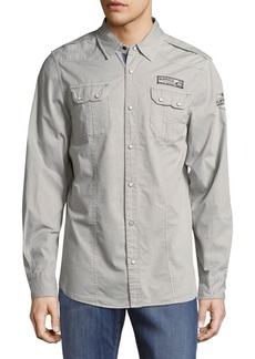 Buffalo Jeans BUFFALO David Bitton Simeon Cotton Casual Button-Down Shirt
