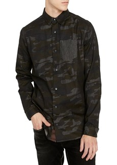 Buffalo Jeans BUFFALO David Bitton Sinvex Camouflage Regular-Fit Button-Down Shirt