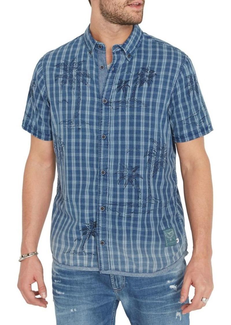 Buffalo Jeans BUFFALO David Bitton Sowrit Regular-Fit Plaid Button-Down Shirt