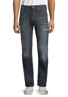 Buffalo Jeans Whiskered Straight Leg Jeans