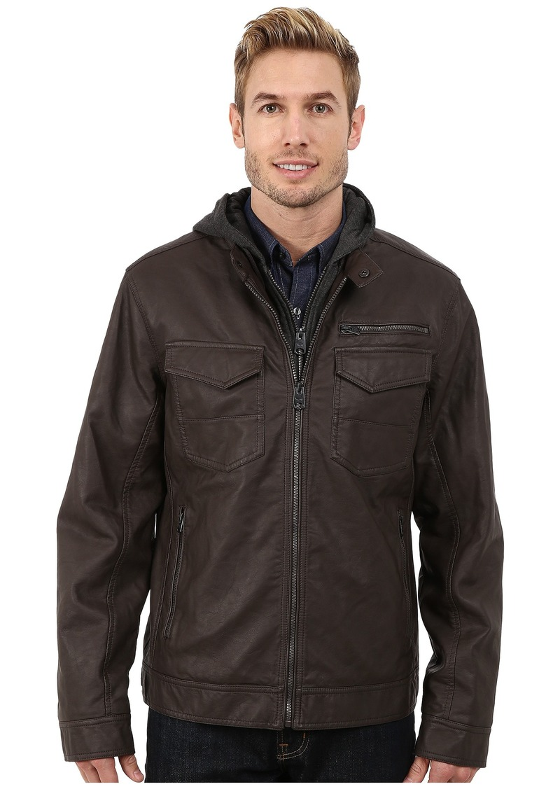 Buffalo Jeans Buffalo David Bitton Zip Front Jacket w/ Hood & Bib
