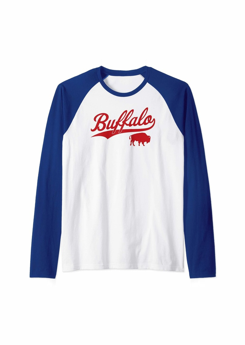 Buffalo Jeans Buffalo Football | Vintage New York Bills Mafia Sports Gift Raglan Baseball Tee