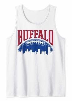 Buffalo Jeans Buffalo Football   Vintage Skyline New York Bills Mafia Gift Tank Top