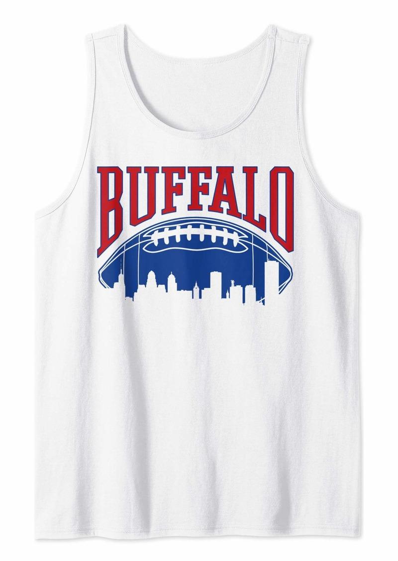 Buffalo Jeans Buffalo Football | Vintage Skyline New York Bills Mafia Gift Tank Top